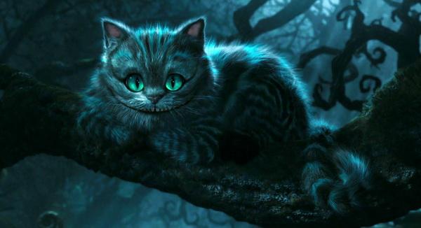 Чеширский кот на дереве