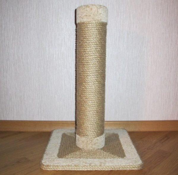 Когтеточка столбик с обмоткой из джута